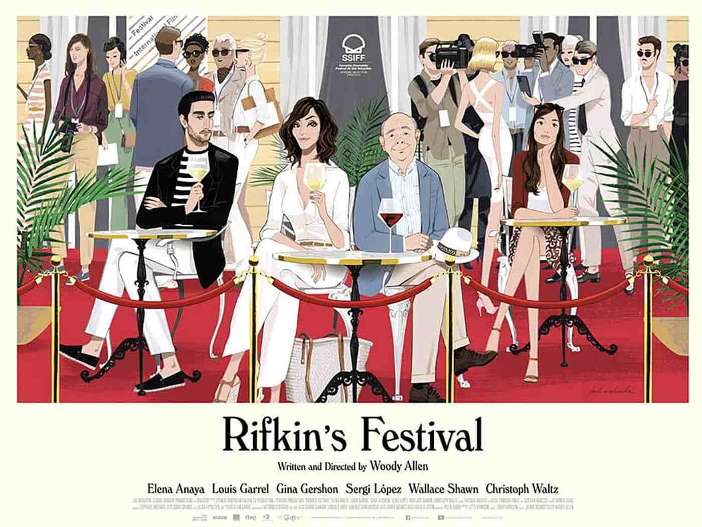 Rifkin's Festival, affiche réalisée par Jordi Labanda