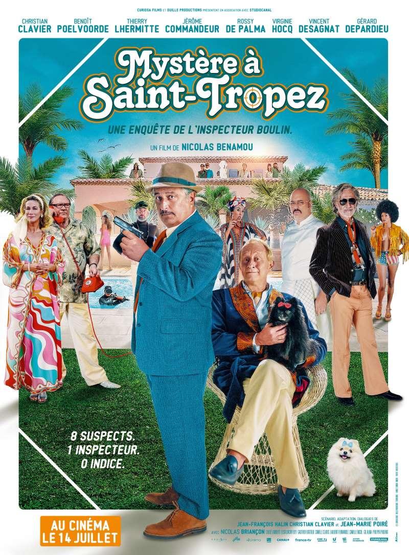 Mystère à Saint-Tropez, l'affiche