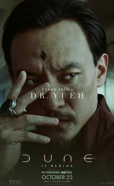 Chang Chen dans Dune de Denis Villneuve (affiche personnage)