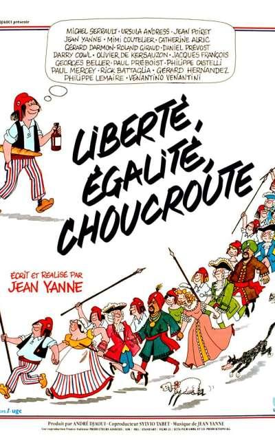 Liberté, égalité, choucroute, l'affiche