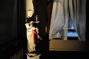 A desecrated statue at 360 Screenings' presentation of The Exorcist.