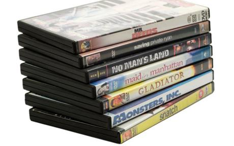 Stack of DVD Movies