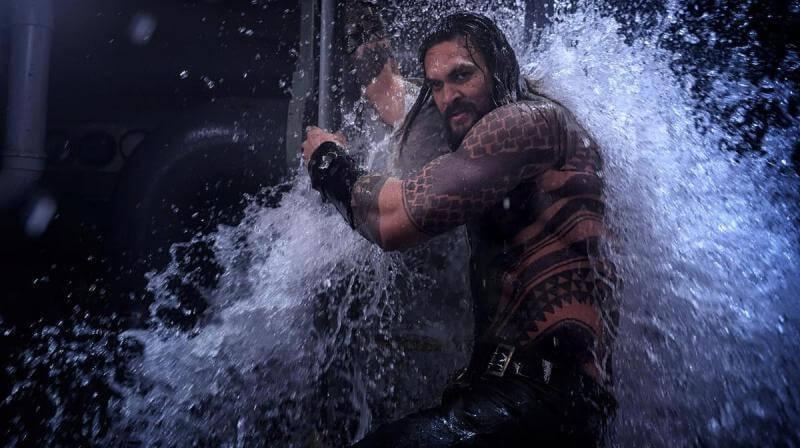 Jason Momoa no filme Aquaman