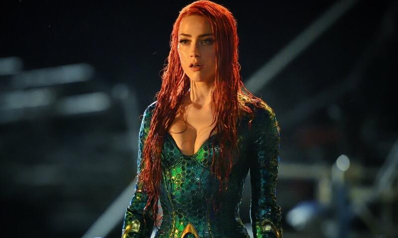 Amber Heard como Mera no filme Aquaman