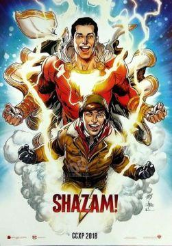 Shazam - poster do filme (CCXP 2018)