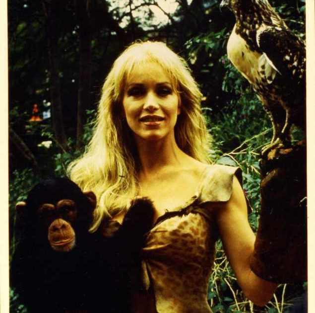Sheena - A rainha da selva - Bastidores - macaco - águia