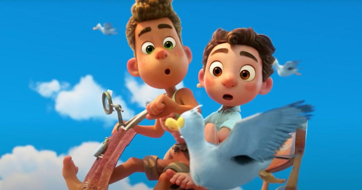 """Alberto e Luca em cena do filme da Pixar """"Luca""""."""