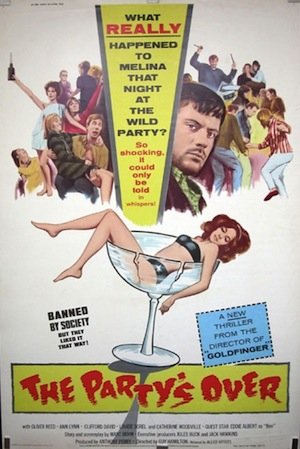 The Party's over 1965 poster