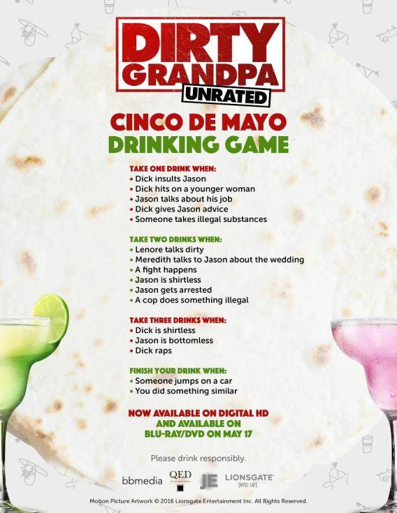 Dirty Grandpa Drinking Game
