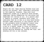 Inkblot Test Card 12