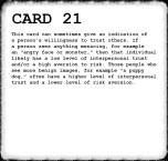 Inkblot Test Card 21 Answer (LAST)