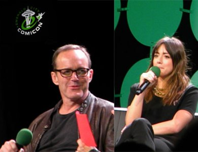 Clark Gregg and Chloe Bennet at Emerald City Comicon 2015