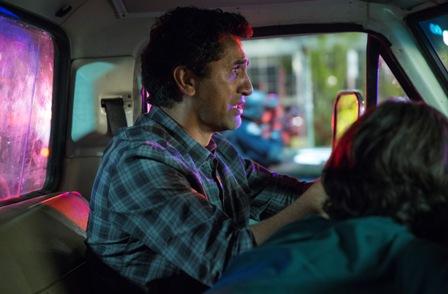 Cliff Curtis as Travis, Lorenzo James Henrie as Chris - Fear The Walking Dead _ Season 1, Episode 3 - Photo Credit: Justina Mintz/AMC
