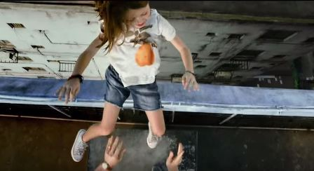 No Escape throwing girl off roof