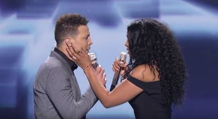 Season 1 runner-up Justin Guarini and Season 6 winner Jordin Sparks