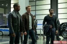 Sam Wilson, Steve Rogers and T'Challa in Marvel's 'Captain America: Civil War,