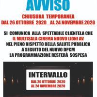 Proiezioni sospese dal 26 ottobre 2020