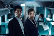 Yoo Gong et Dong-seok Ma dans Dernier train pour Busan (2016)