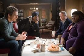 Matthew Broderick, Eddie Murphy, Ben Stiller, et Gabourey Sidibe dans Tower Heist (2011)
