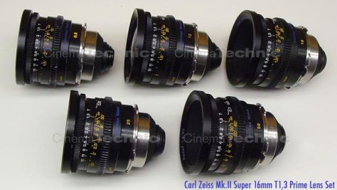 Zeiss Super Speed Super 16 format set of 5