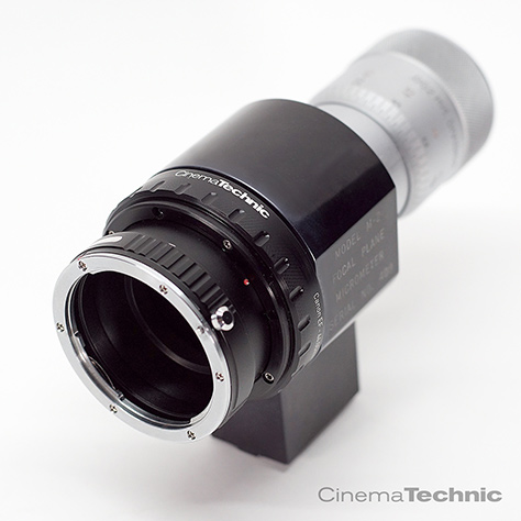 Richter M-2 Focal Plane Micrometer (analog) with CinemaTechnic EF Mount