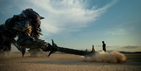 Megatron & Josh Duchamel in Transfomers 5: The Last Knight