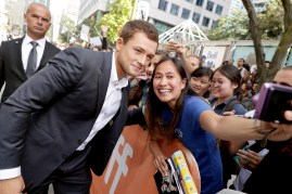 """Taron Egerton seen at Universal Pictures """"Sing"""" at the 2016 Toronto International Film Festival on Sunday, Sept. 11, 2016, in Toronto. (Photo by Eric Charbonneau/Invision for Universal Pictures/AP Images)"""