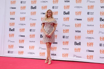 """Reese Witherspoon seen at Universal Pictures """"Sing"""" at the 2016 Toronto International Film Festival on Sunday, Sept. 11, 2016, in Toronto. (Photo by Eric Charbonneau/Invision for Universal Pictures/AP Images)"""