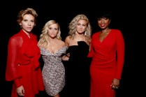 """Scarlett Johansson, Reese Witherspoon, Tori Kelly and Jennifer Hudson seen at Universal Pictures """"Sing"""" at the 2016 Toronto International Film Festival on Sunday, Sept. 11, 2016, in Toronto. (Photo by Eric Charbonneau/Invision for Universal Pictures/AP Images)"""