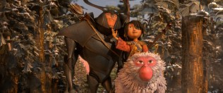 2700.0120.still.laika.0004 (l-r.) Beetle (voiced by Academy Award winner Matthew McConaughey), Kubo (Art Parkinson), and Monkey (Academy Award winner Charlize Theron) emerge from the Forest and take in the beauty of the landscape in animation studio LAIKA's epic action-adventure KUBO AND THE TWO STRINGS, a Focus Features release. Credit: Laika Studios/Focus Features