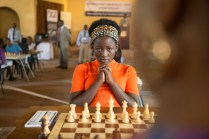 Madina Nalwanga is Phiona Mutesi in Disney's QUEEN OF KATWE, the vibrant true story of a young girl from the streets of rural Uganda whose world rapidly changes when she is introduced to the game of chess. David Oyelowo and Oscar (TM) Lupita Nyong'o also starin the film, directed by Mira Nair.