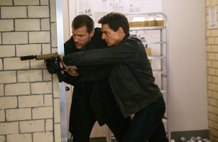 Left to right: Patrick Heusinger plays The Hunter and Tom Cruise plays Jack Reacher in Jack Reacher: Never Go Back from Paramount Pictures and Skydance Productions