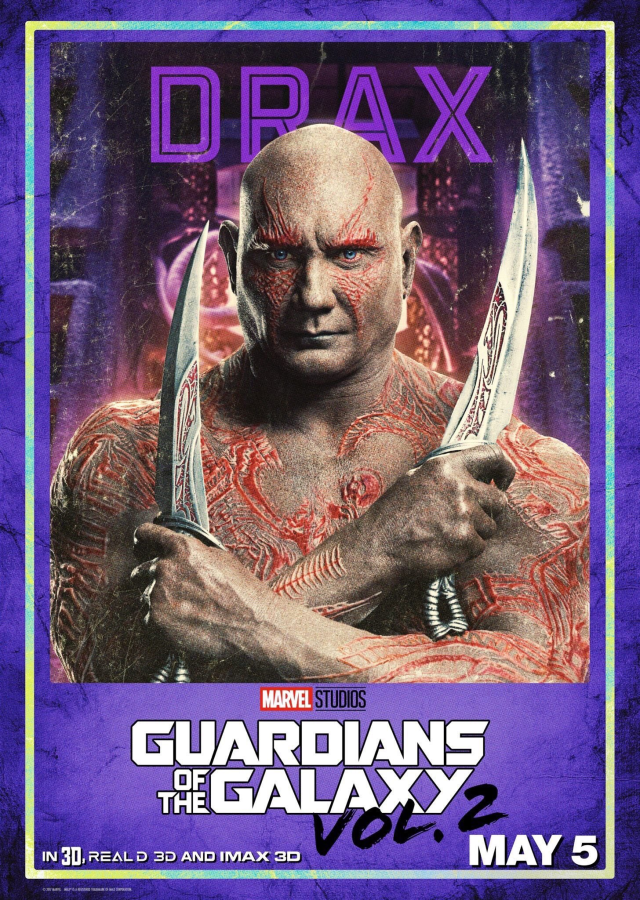 Guardians of the Galaxy Vol 2 - US Drax Posters Personajes