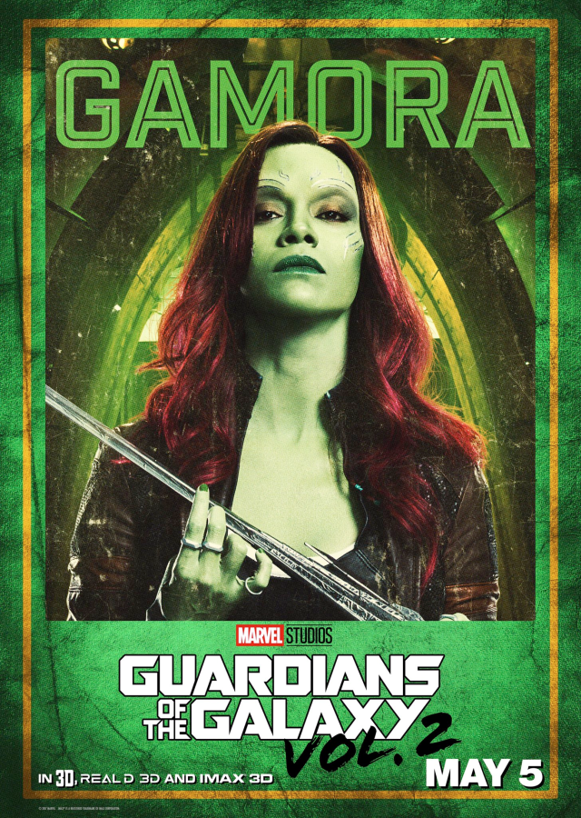 Guardians of the Galaxy Vol 2 - US Gamora Posters Personajes