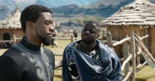 Marvel Studios' BLACK PANTHER L to R: T'Challs/Black Panther (Chadwick Boseman) and W'Kabi (Daniel Kaluuya) Ph: Film Frame ©Marvel Studios 2018