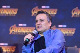 Joe Russo (Director) of Avengers: Infinity War at the press conference in Mexico City.