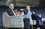 Mark Ruffalo (Bruce Banner/Hulk) and Joe Russo (Director) attend the Avengers: Infinity War fan event in Mexico City.
