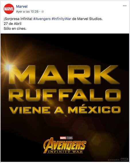 Mark Ruffalo viene a Mexico por Avengers Infinity War.png