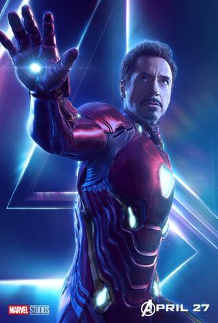 posters individuales avengers infinity war iron man