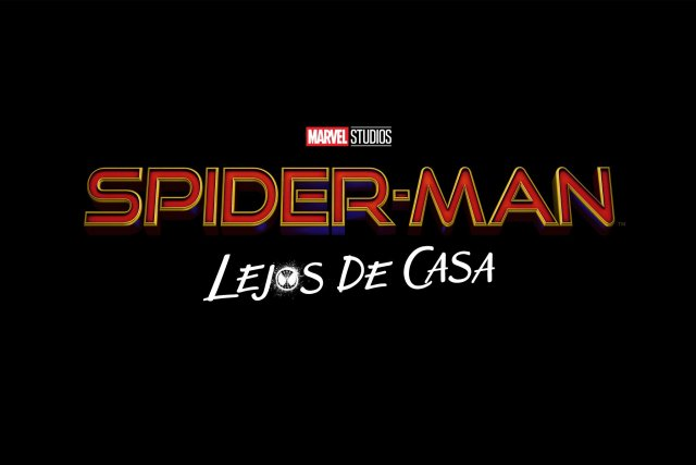 spider man far from home lejos de casa logo