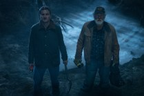 Left to right: Jason Clarke as Louis and John Lithgow as Jud in PET SEMATARY, from Paramount Pictures.