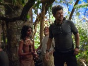 "Rohan Chand (""Mowgli) and Director Andy Serkis on the set of the Netflix film ""Mowgli: Legend of the Jungle"""