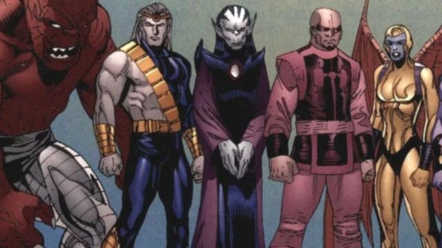 ilustración de marvel comics de los deviants