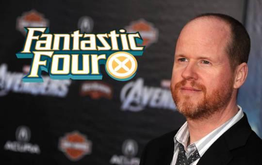 joss whedon con logo de los cuatro fantásticos fantastic four