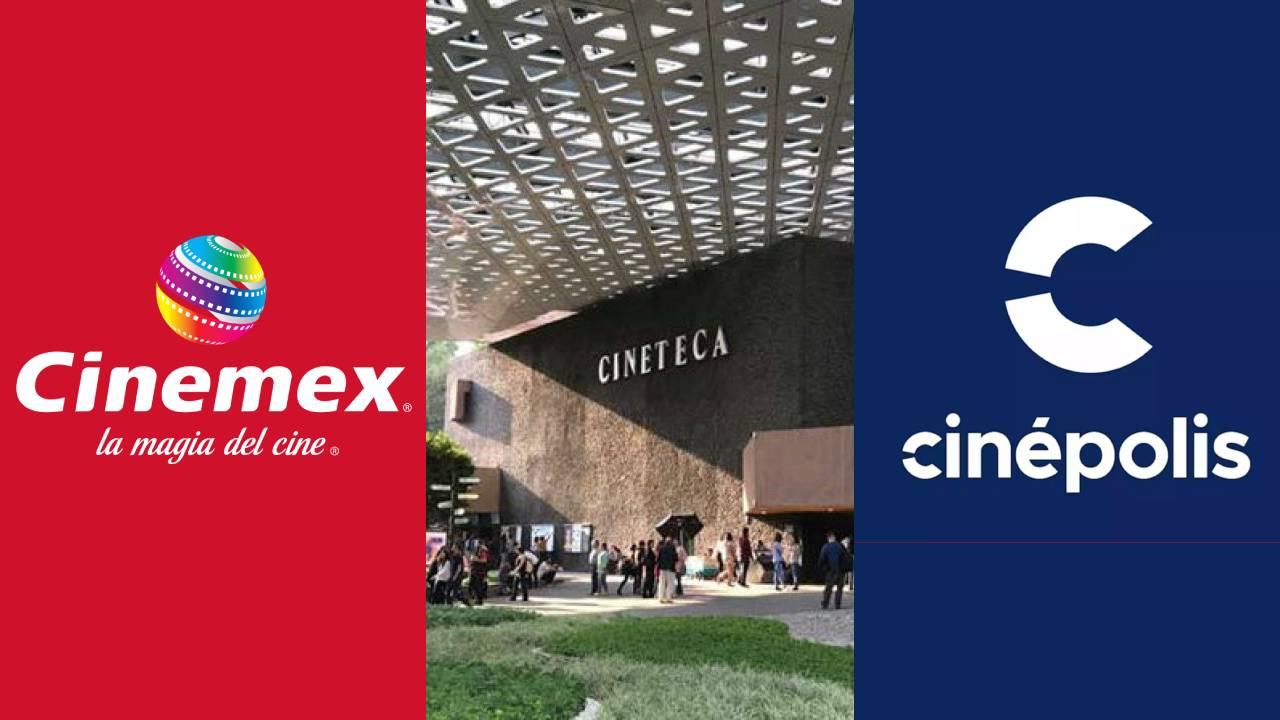 imagen de cinemex, cinépolis y la cineteca nacional