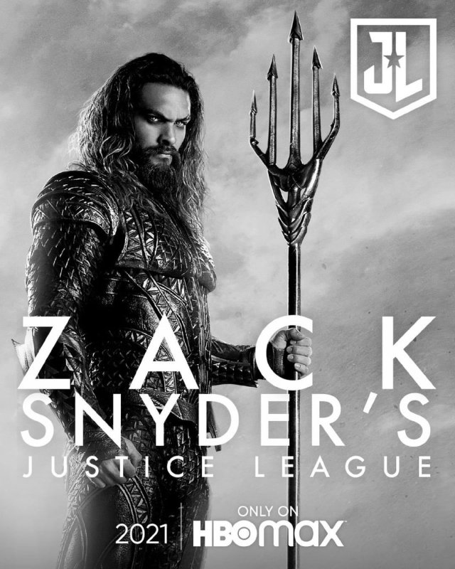 póster oicial snyder cut justice league aquaman