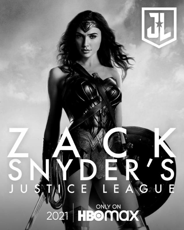 póster oicial snyder cut justice league mujer maravilla