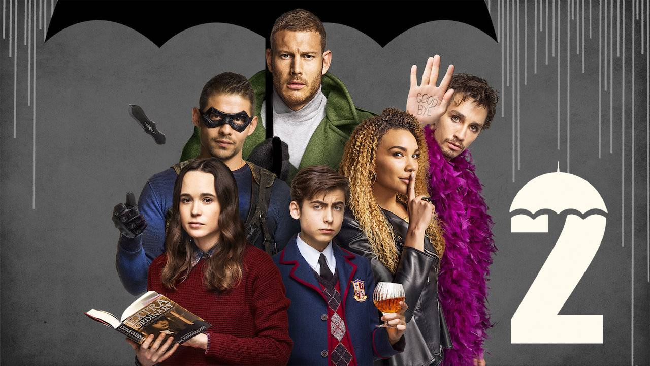 fotografía del elenco de The Umbrella Academy