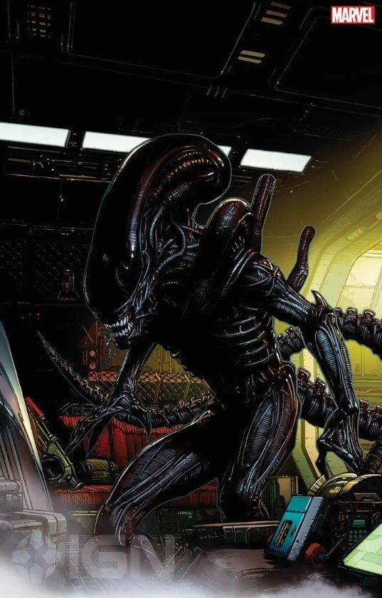 Ilustración de Alien de Marvel Comics
