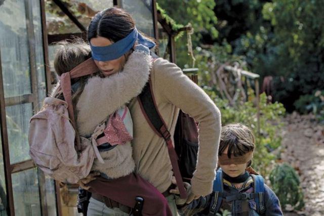 Fotografía de Sandra Bullock en Bird Box de Netflix